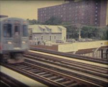 SUPER8 USA Chicago metro CTA 1 Stock Footage