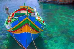 traditional boat malta - stock photo