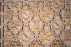 islamic art at reales alcazares, seville, spain - stock photo