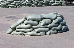 Sandbags Stock Photos