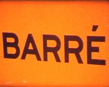 SUPER8 Barré sign Stock Footage