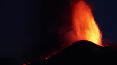 Paroxysm of Etna volcano Stock Footage