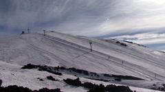 Ski season etna Stock Footage