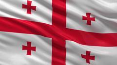 Flag of Georgia Stock Illustration