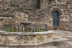 source at the viewpoints of san lorenzo, ubeda, jaen province, spain - stock photo