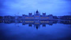 Morning Twilight Budapest Stock Footage