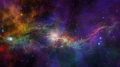 Nebula Flythrough 01 (1080p 29.97).mp4 Stock Footage