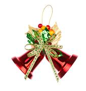 shiny red christmas bells decorated - stock photo