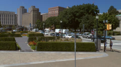 Driving by the University of Pittsburgh on Forbes Ave Stock Footage