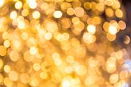 Stock Photo of bokeh defocused gold abstract christmas background