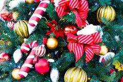 Christmas decoration with snow Stock Photos