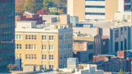 Stock Video Footage of Historic Kress building in Downtown Asheville, NC