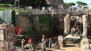 Stock Video Footage of Archaeology dig in Rome 6