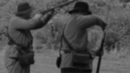 Stock Video Footage of Vintage rifle shooting (3 of 4)