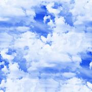 seamless texture of blue clouds - stock photo