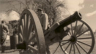 Stock Video Footage of Vintage cannon shooting (3 of 3)