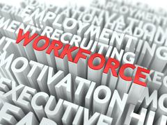 Workforce. Wordcloud Concept. - stock illustration