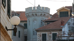 Herceg Novi, Clock tower Stock Footage