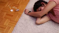 Teen prescription drug abuse - stock footage