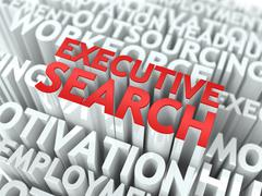 Executive Search. Wordcloud Concept. Stock Illustration