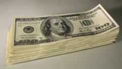 Money pack. Close-up slider shot. Stock Footage