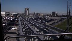 Airport tram timelapse Stock Footage