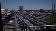 Stock Video Footage of Airport tram timelapse