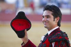 The spanish bullfighter salvador vega to the turning of honour  Stock Photos