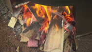 Stock Video Footage of Cocoa Beans Toasting, Stirred