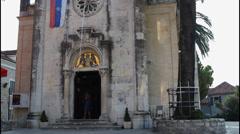 Saint Michael Archangel Church , tilt up Stock Footage