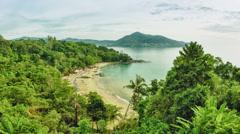 General view of laem sing beach, phuket island, thailand Stock Footage