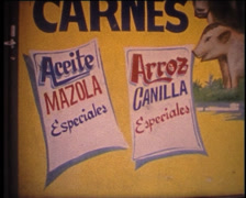 Stock Video Footage of SUPER8 USA Little Havana cuban add carnes and pan cubano