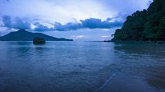 Thailand, phuket. at kamala beach in the evening Stock Footage
