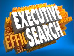 Executive Search. Wordcloud Concept. - stock illustration