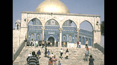 Israel 1979: visitors entering Al-Aqsa Mosque - stock footage