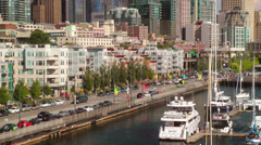 Streetscene, Seattle Waterfront Stock Footage