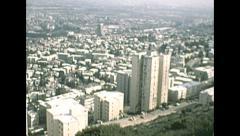 Israel 1979: Haifa cityscape Stock Footage
