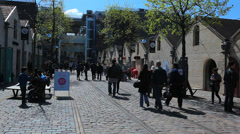 Bercy Village - Paris, France. People, consumerism, shopping, restaurant, french Stock Footage