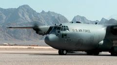 C-130 Hercules taxing Stock Footage