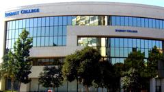Everest College Building- Santa Ana CA Stock Footage