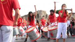 Drumming in the streets 6 Stock Footage
