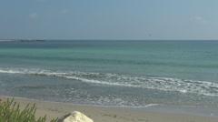 Beautiful ocean wave summer day sunny holiday island tropical resort sea enjoy Stock Footage