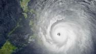 Typhoon Haiyan attacks Philippines - stock footage