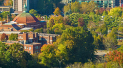 Asheville's First Baptist Church during the Fall - stock footage