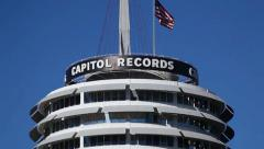 Hollywood Capitol Records Building Stock Footage
