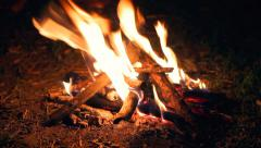 Making Bonfire Night, Burning Fire HD Stock Footage