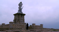 Dame des Naufragés (2) - Pointe du Raz, France Stock Footage