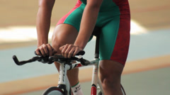 Cycling Track Velodrome Athlete - stock footage