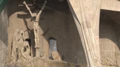 Barcelona - Catalonia - Spain - Cathedral - Sagrada Família - HD 1920 X 1080P Stock Footage