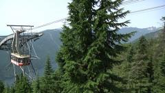 Alpine lift going up at Grouse Mountain, Vancouver B.C. Stock Footage